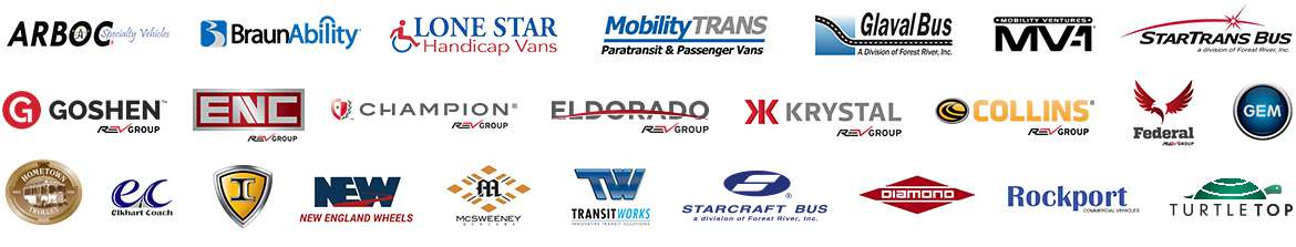 Creative Bus Sales Manufacturer Logos